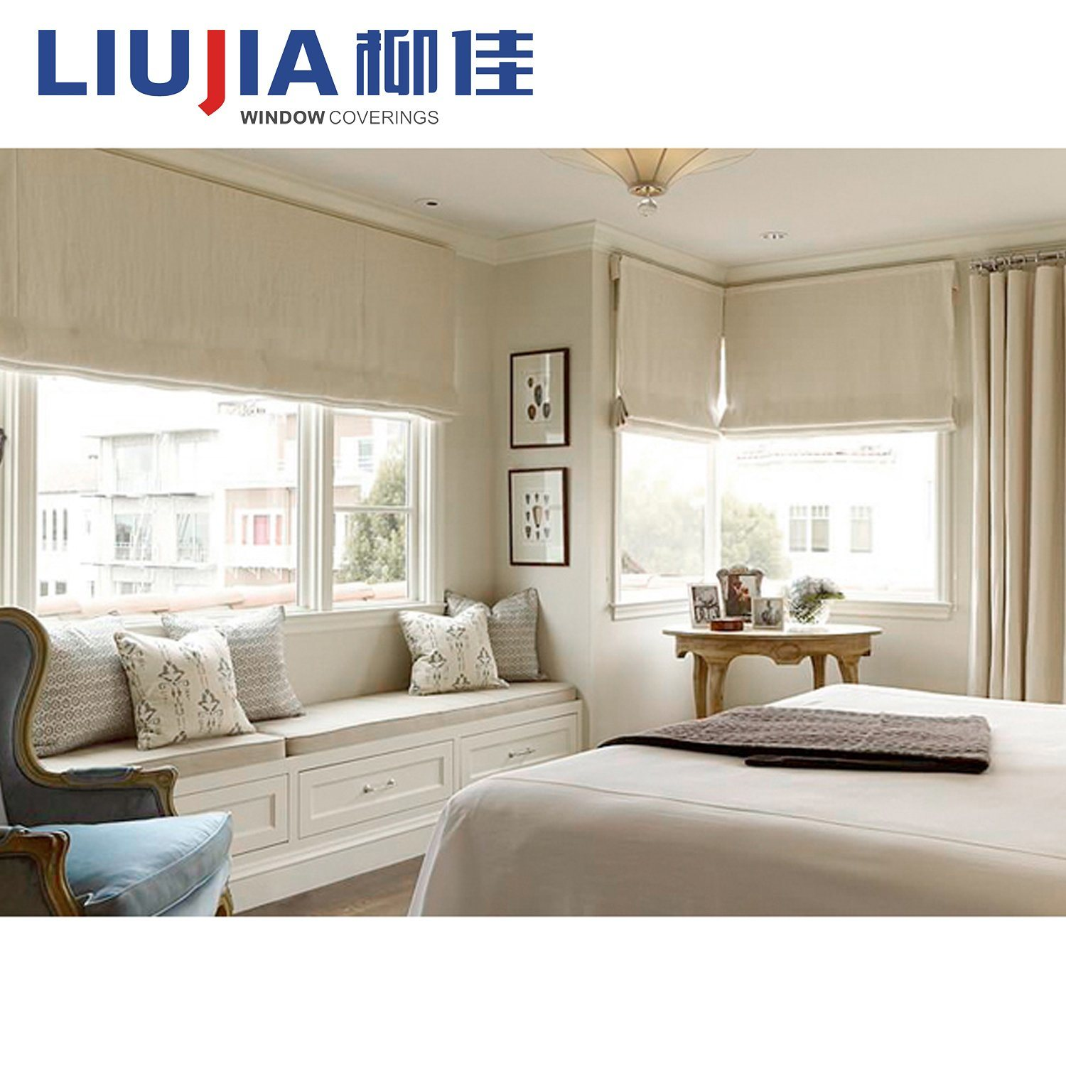 China Cheap 100 Polyester Blockout Roman Blind For Bedroom China Blind Window Blinds