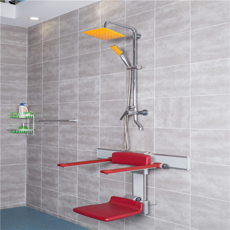 Saving Room Wall Mounted Fold up Shower Seat Wall Chair for Bathroom