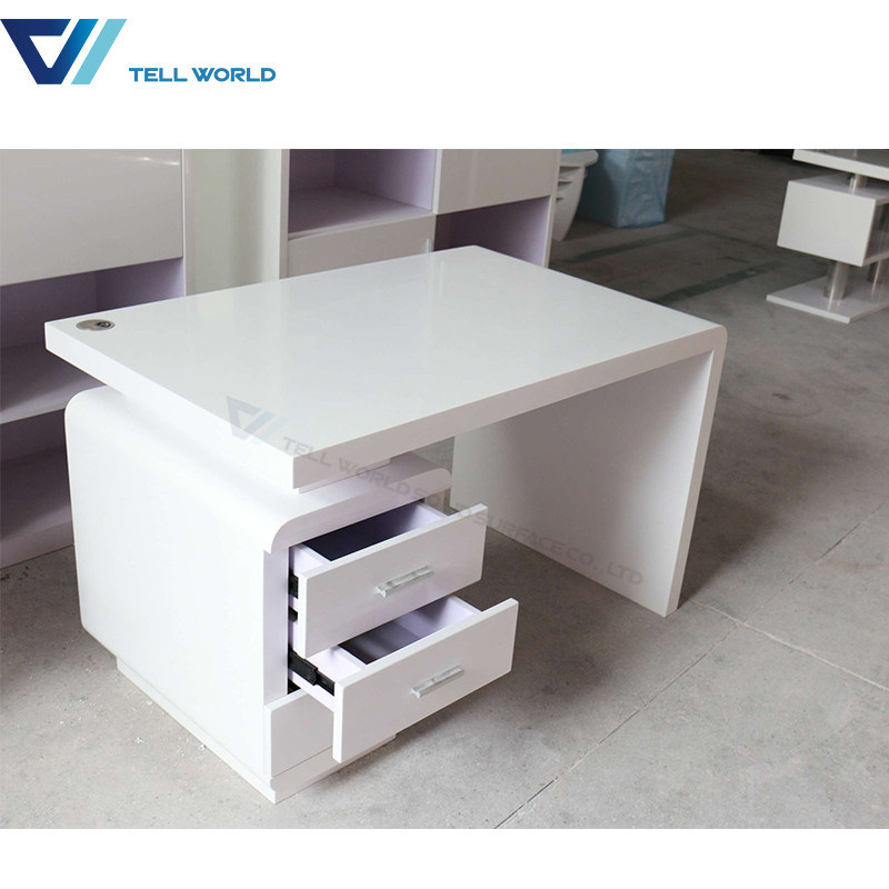 [Hot Item] Acrylic Solid Surface Executive Corian Modern Office Desk