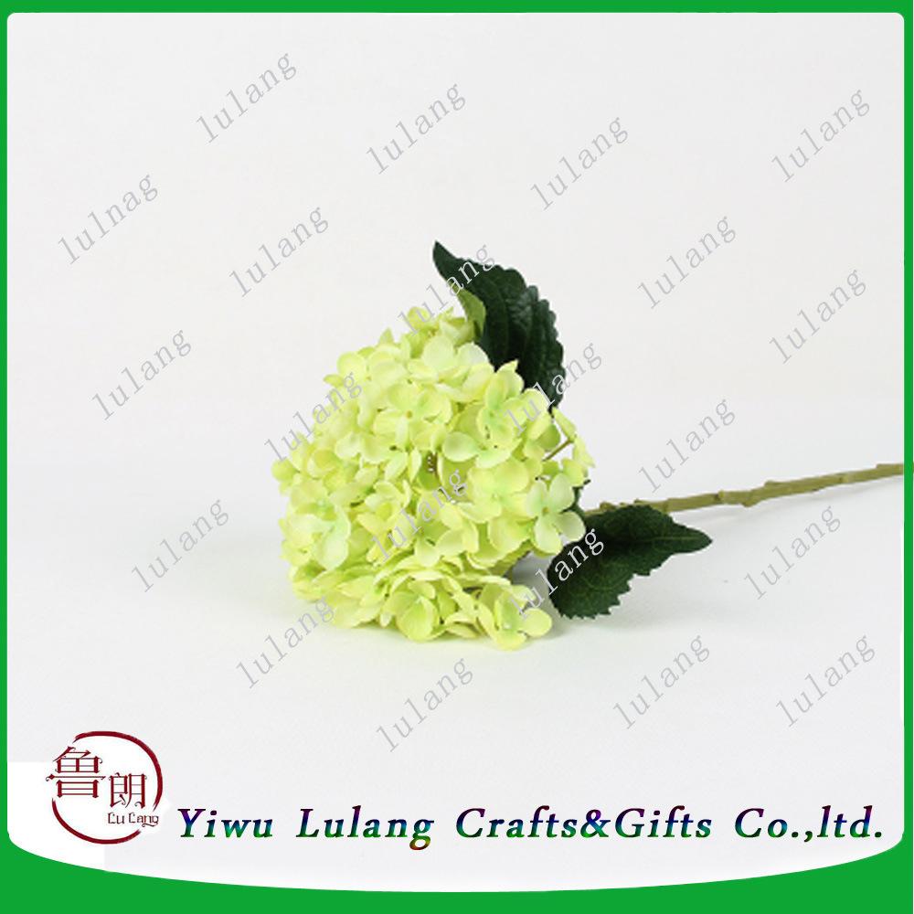 China 18 Artificial Silk Stem Flower Of Wholesale Silk Hydrangea