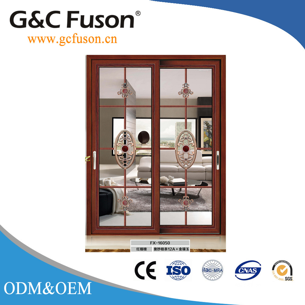 China Black Walnut Entry Sliding Interior Wooden Fire Rate Door With