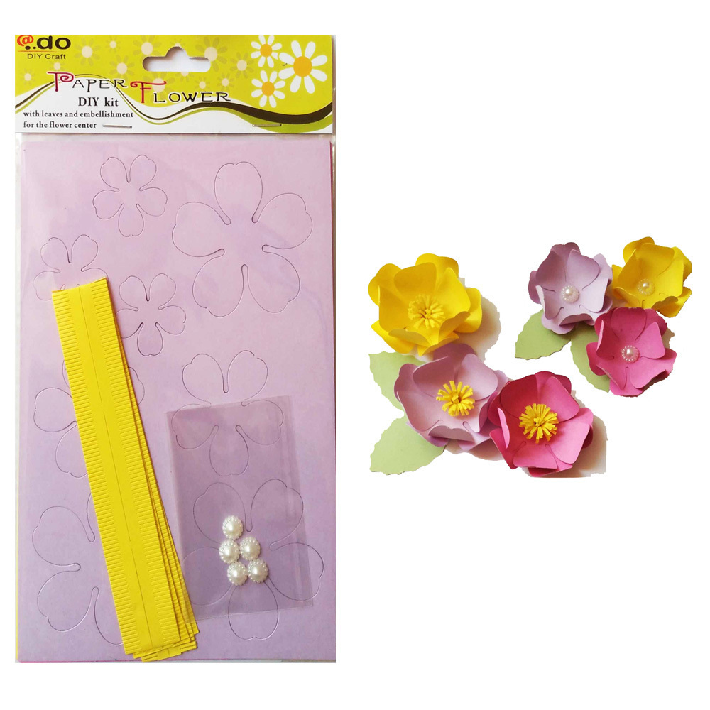 China Paper Flower Diy Handmade Material Kit Of Camellia Photos