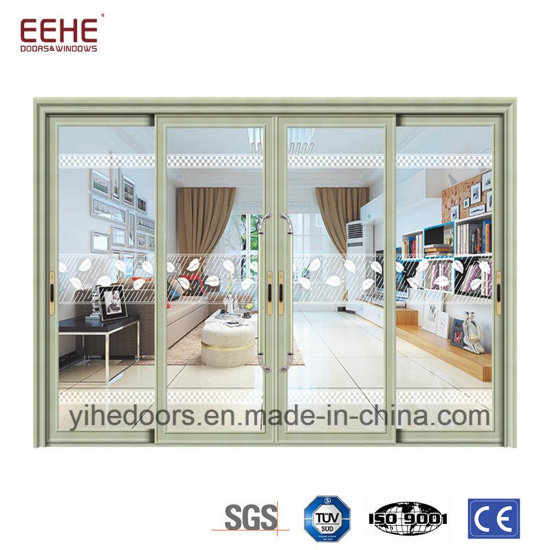 Foshan Factory Bathroom Sliding Glass Door With Aluminum Frame