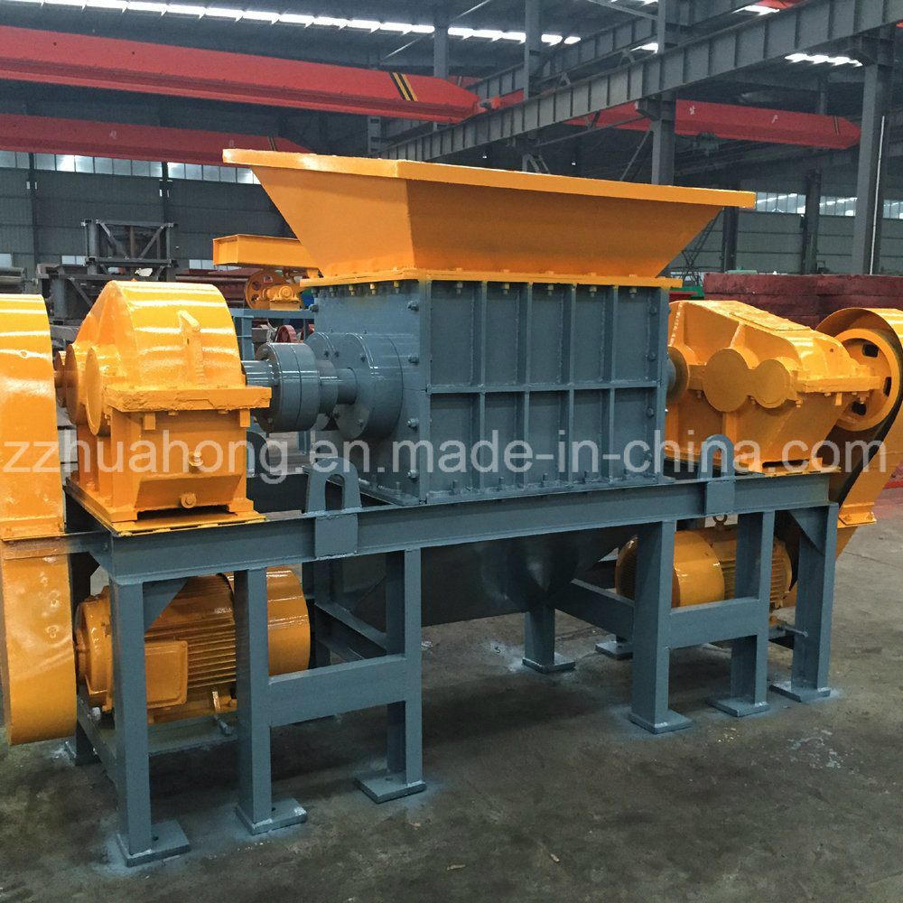 China Hard Plastic Recycling Machine Double Shaft Shredder Blades Scrap Circuit Board Computer Rubber Tire Recycle Plasticr Ecycling