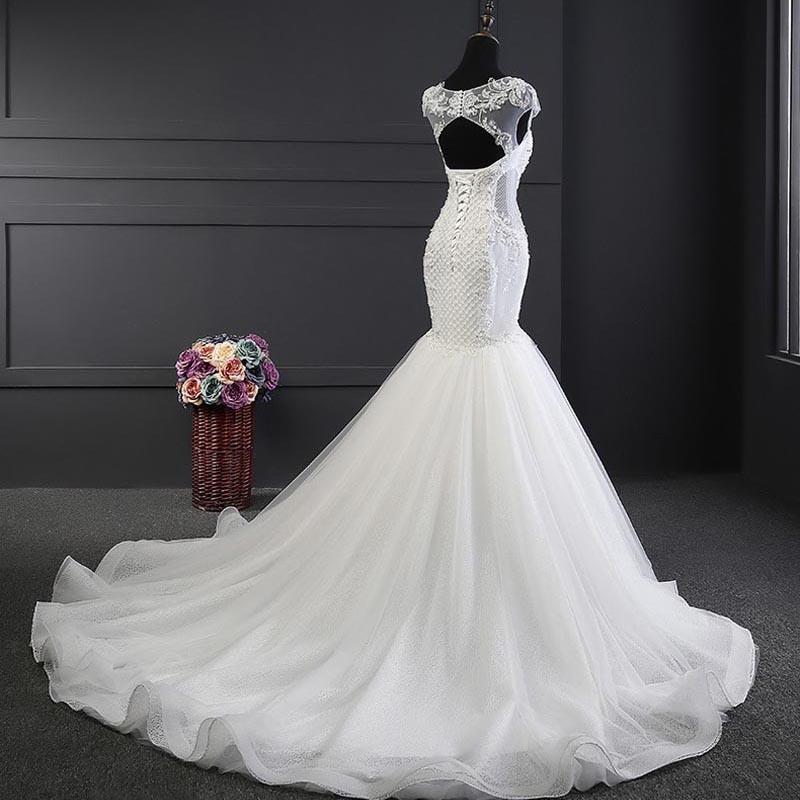 China Newest Design Long Tail Bridal Luxury Mermaid Wedding Dress ...