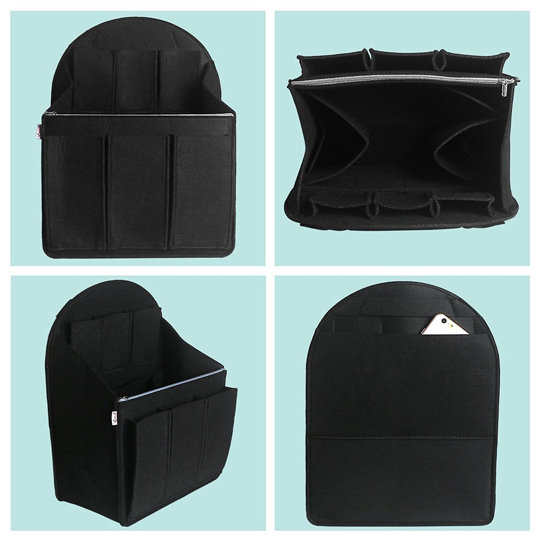 Felt Multipocket Handbag Insert Purse Bag In Bag Backpack Insert