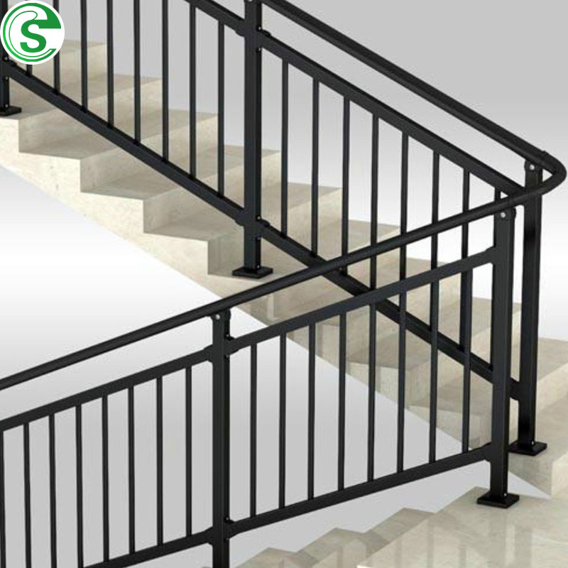 China No Welding Design Iron Stair Railing Powder Coated ...