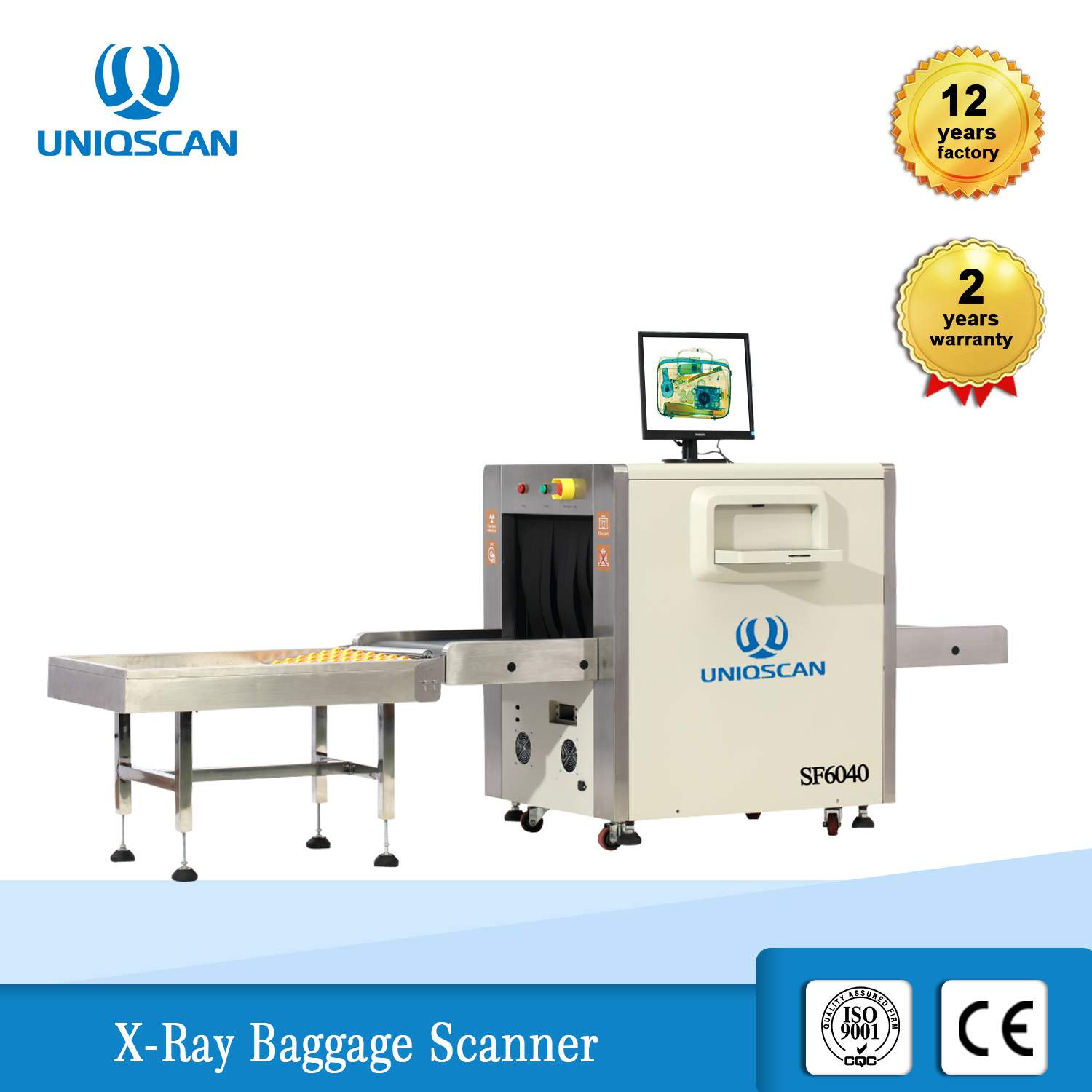 China Uniqscan Security Equipment X Ray Baggage Scanner Sf6040 With