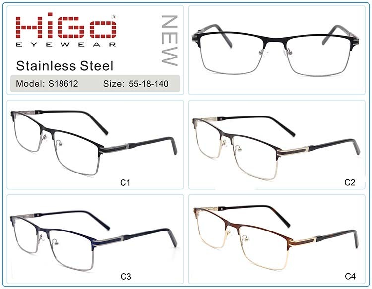 0958bca39d66 High-Performance Good Quality Luxury Metal Frames Stainless Steel Gold  Spectacles Optical Frames