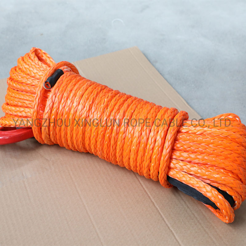 1//4 Inch x 50 Feet 7700LBs Winch Line Cable Rope with Black Protecing Sleeve Fit for ATV UTV