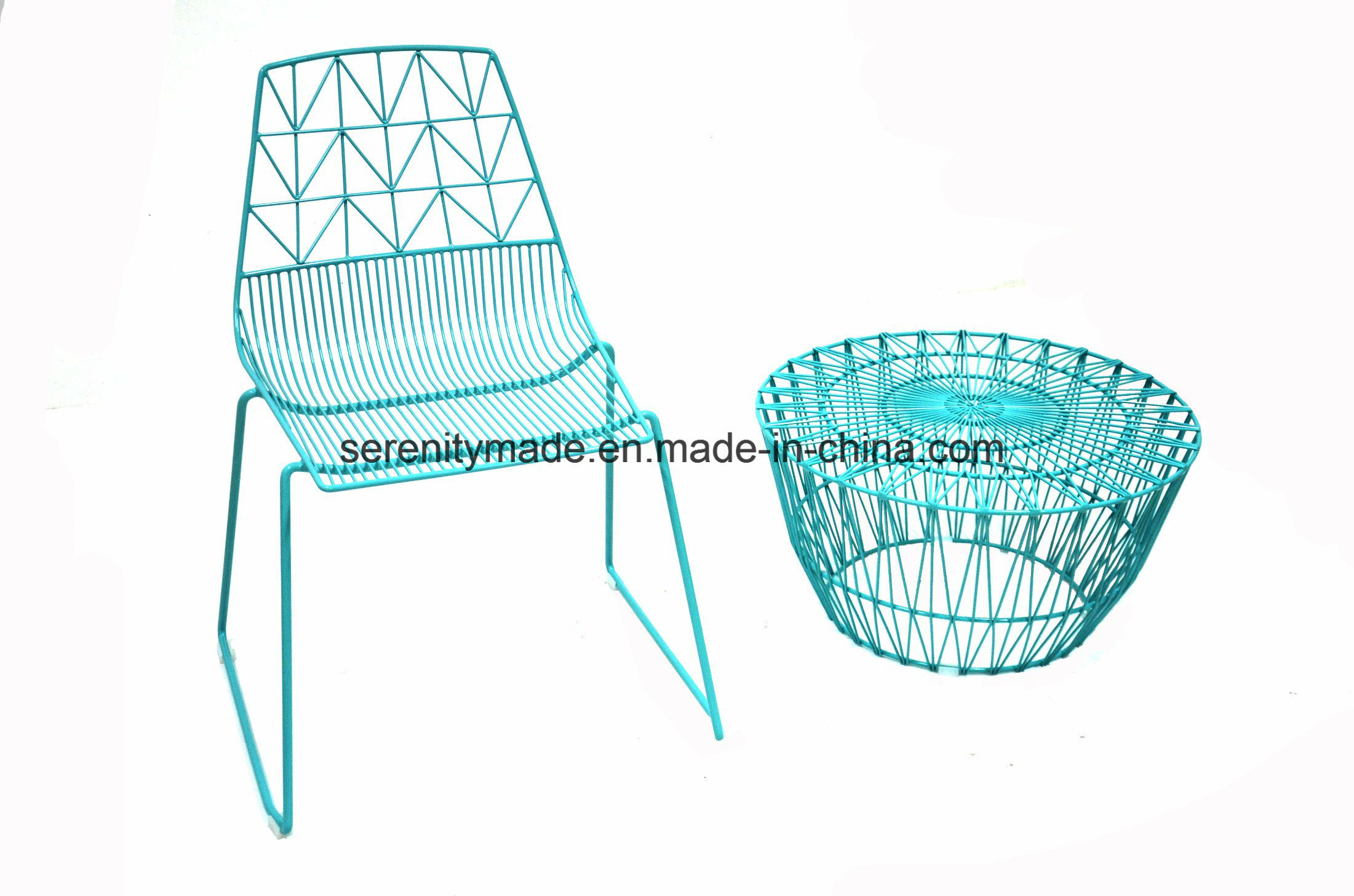 China 2018 Hot Sale Ruplica Outdoor Spraying Metal Wire Side Dining ...