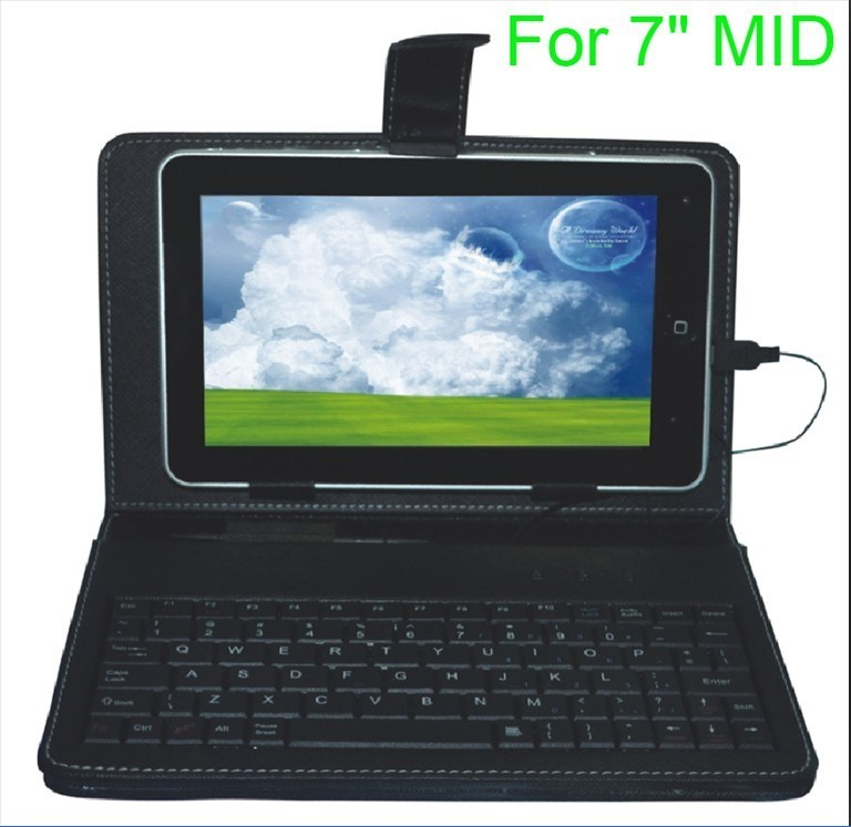 "Keyboard Leather Case for 7"" MID- (KL-PK001)"