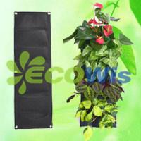 China 7 Pocket Hanging Vertical Garden Wall Planter Ht5093a