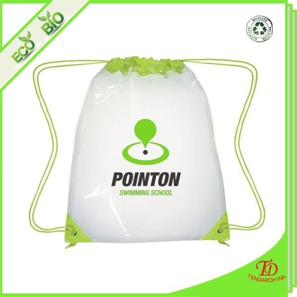 China Sportswear Clear Cinch Bag