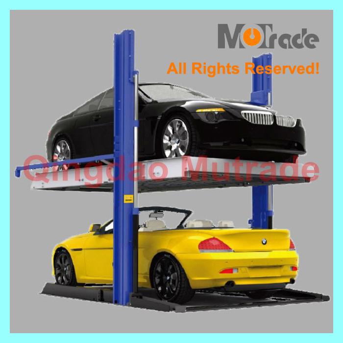 China 2 Cars Each Unit Two Column Garage Parking Lift China Home