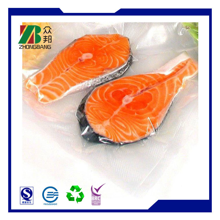 Plastic Vacuum Frozen Food Packaging for Fish