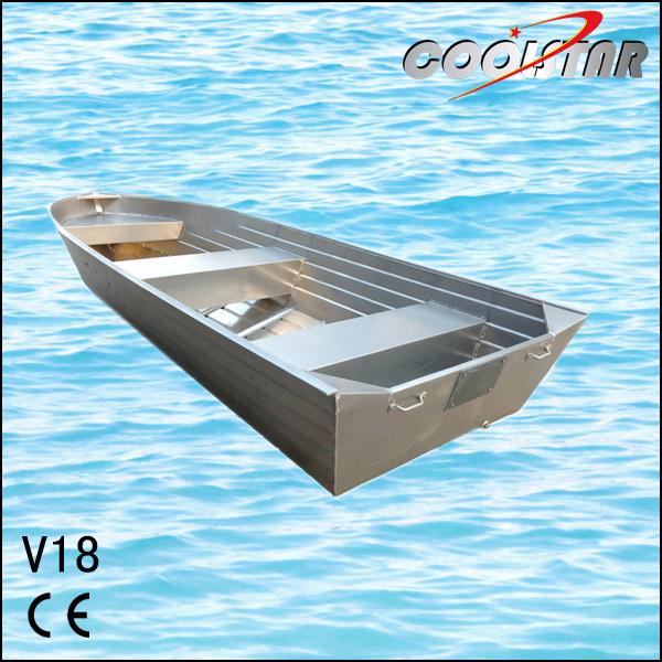 Hot Item 18ft Flat Bottom V Type Aluminium Jon Boat For Sale