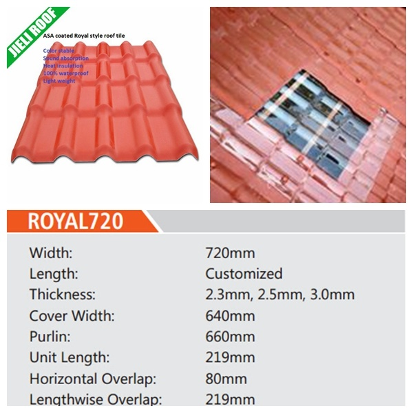Hot Item Light Weight Synthetic Spanish Roof Tile