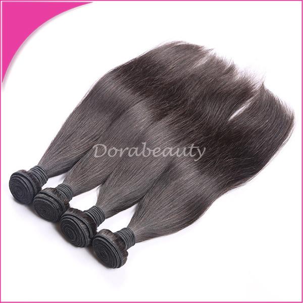 China Mongolia Virgin 100 Human Natural Straight Black Hair Weaving