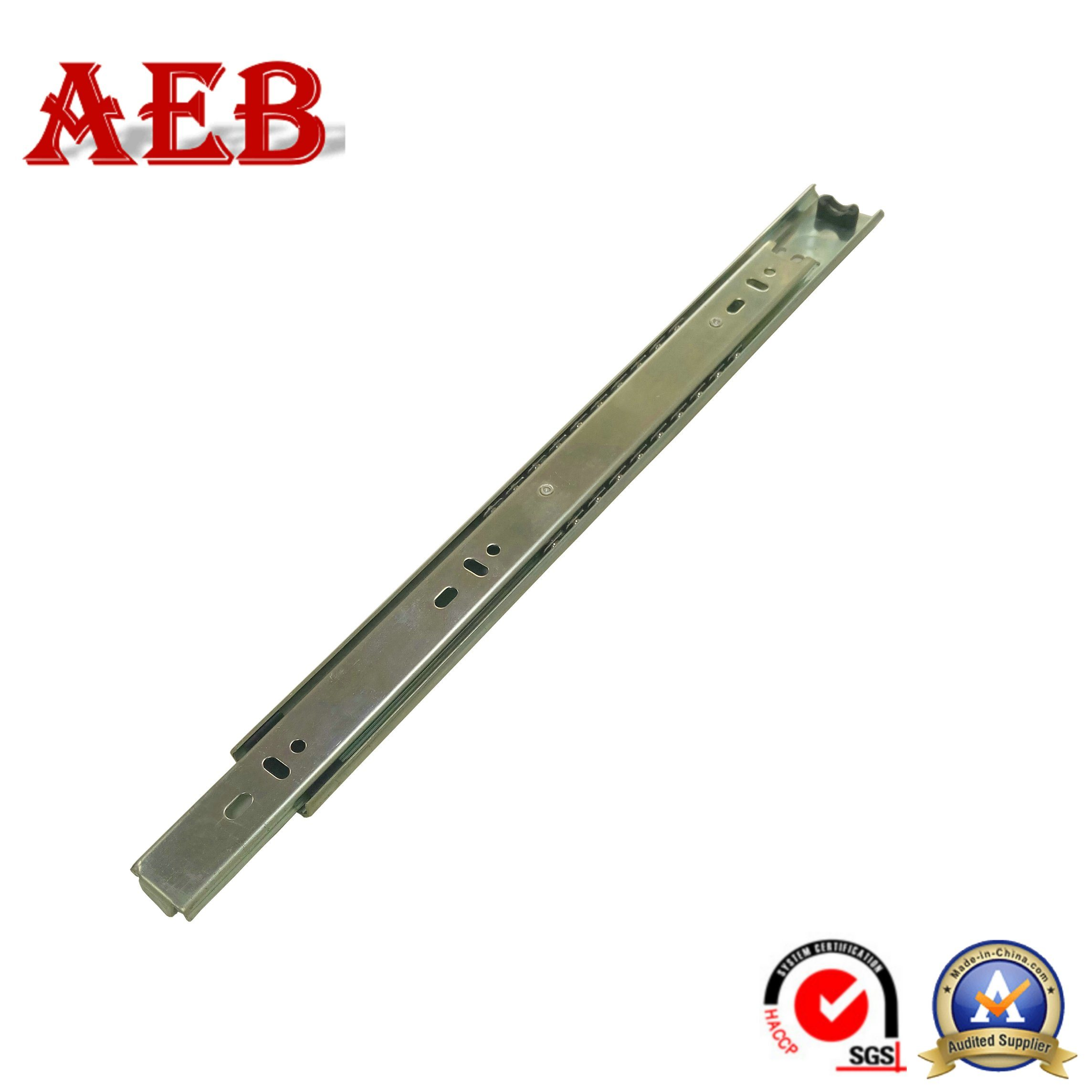 China 35mm 2 Fold Steel Material Drawer Fitting Type Drawer Slides