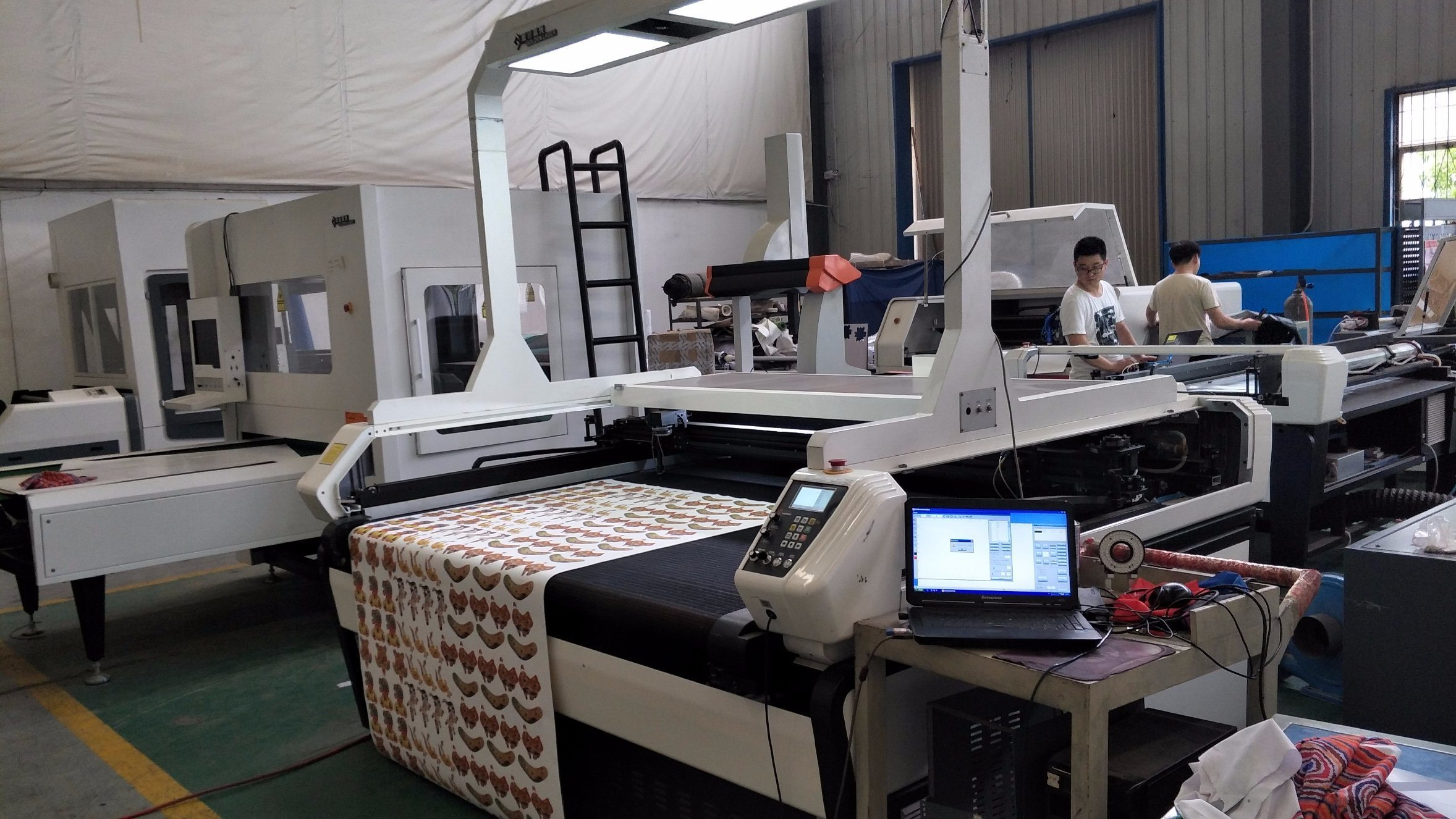 China camera visual laser cutting machine used for cutting applique