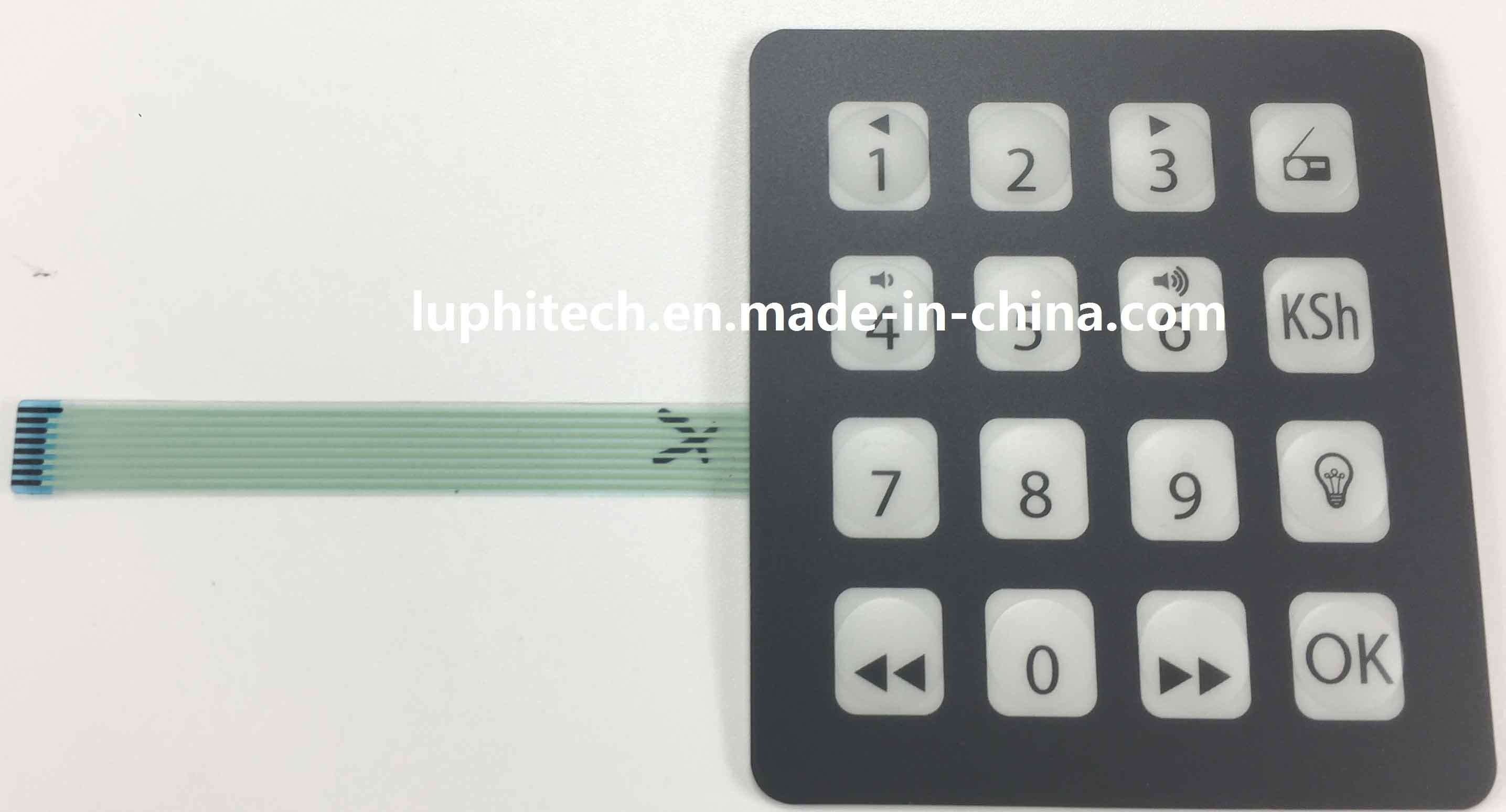 [Hot Item] Matrix Alphanumeric Membrane Keypad Switch with Silver Point