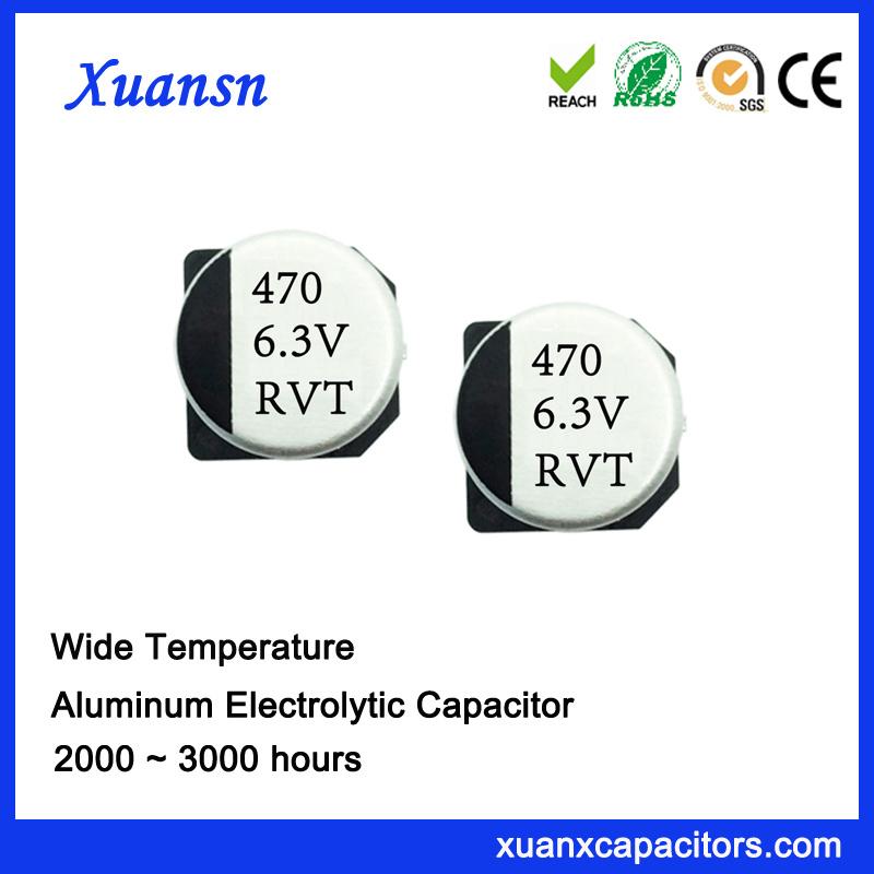 China Hot Sale 470UF 6 3V Electrolytic Capacitor SMD Photos