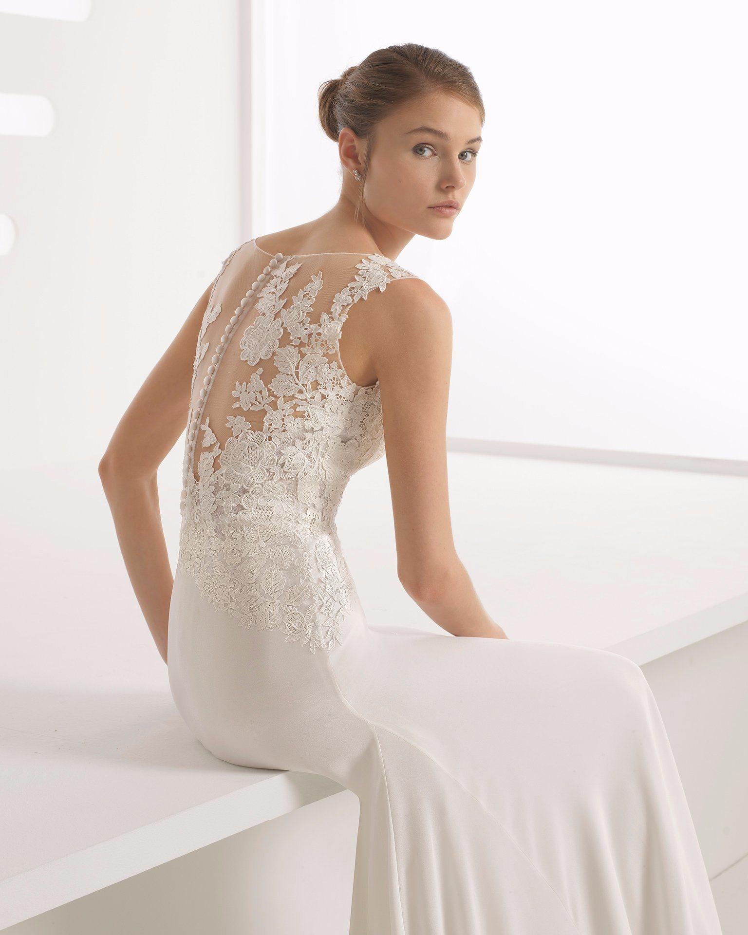 1fbe7ba0414 Chiffon Wedding Dress With Spaghetti Straps