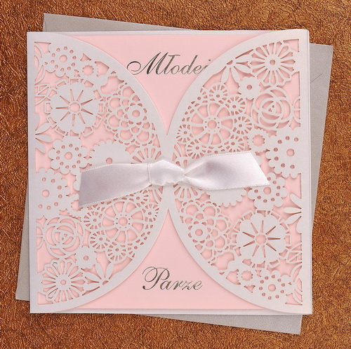 Hot Item Luxury Laser Cutting Handmade Wedding Invitation Card Designs