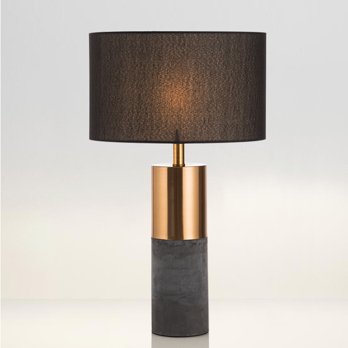 [Hot Item] So Fashion Modern Gold and Black Bedroom Desk Table Lamp with  Fabric Shade, Good for Hotel Bedside, Living Room