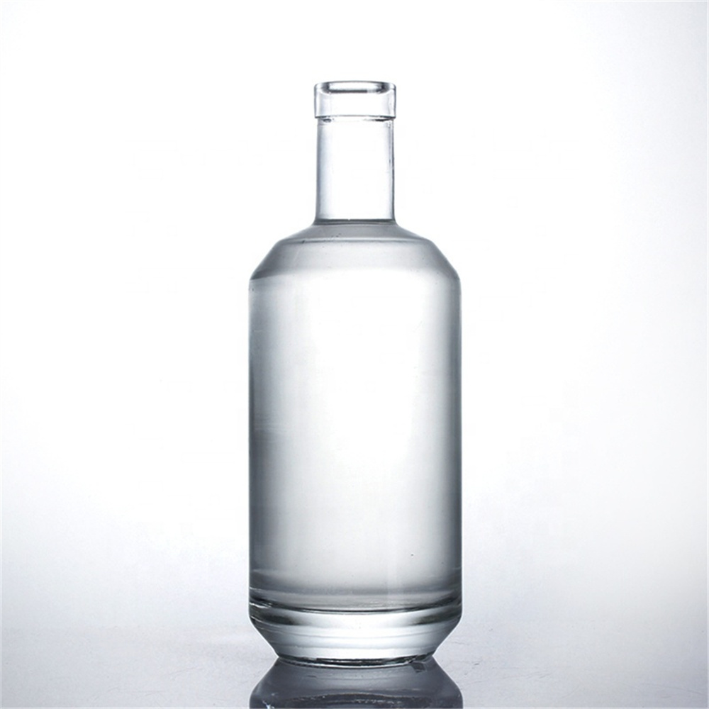 China 500ml 600ml 700ml Clear 750 Ml Rum Glass Bottle Decal Cylindrical Shape Whiskey Bottle China Wine Bottle And Bottles Price