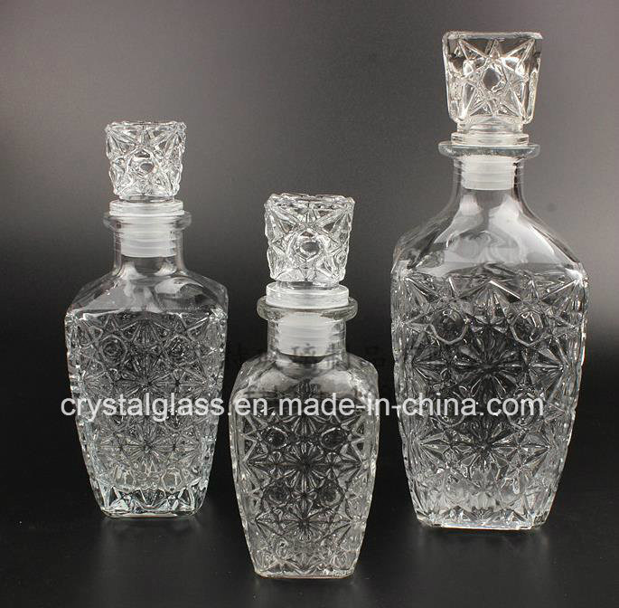Wholesale Top- Grade Square Diamond Style Wine Bottle Whisky Glassware 250/500/800ml pictures & photos