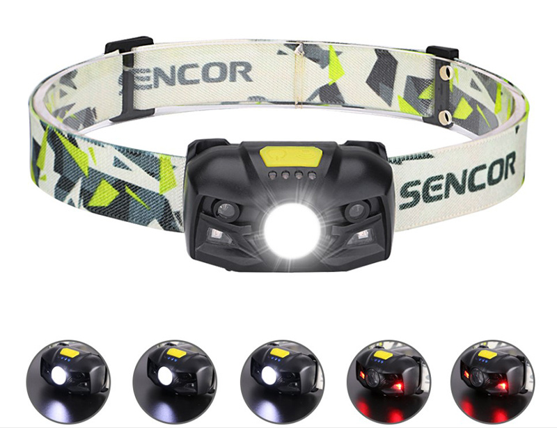 Rechargeable LED Headlamp Motion Sensor Headlight Camping Light Torch Lamp