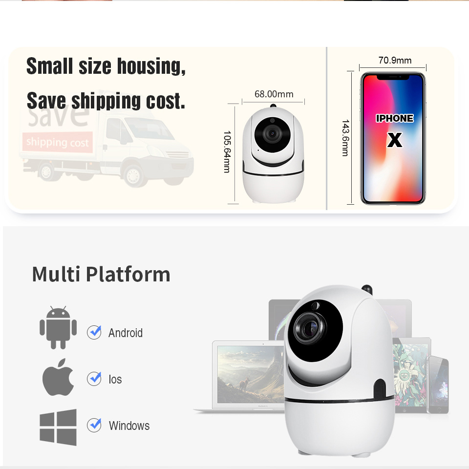 China Mini Cloud Storage Security Surveillance IP WiFi Auto