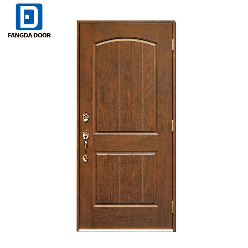China Fangda 2 Panel Fiberglass Door