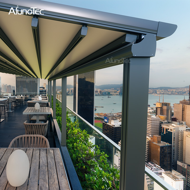 China Pergola with Retractable Fabric Roof - China ...