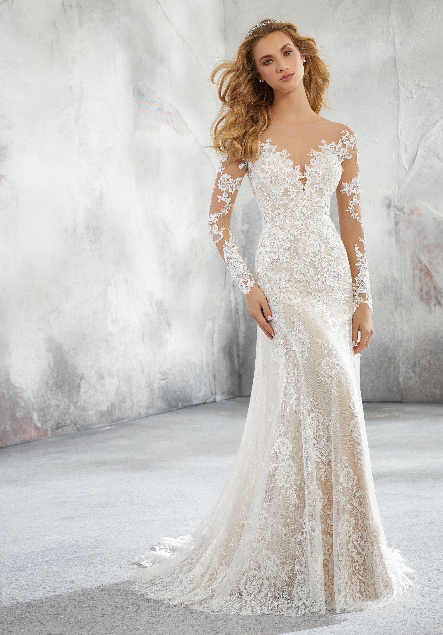2019 Lace Long Sleeve Vintage A Line Party Dress: China Mermaid Bridal Gowns Long Sleeves Lace Wedding