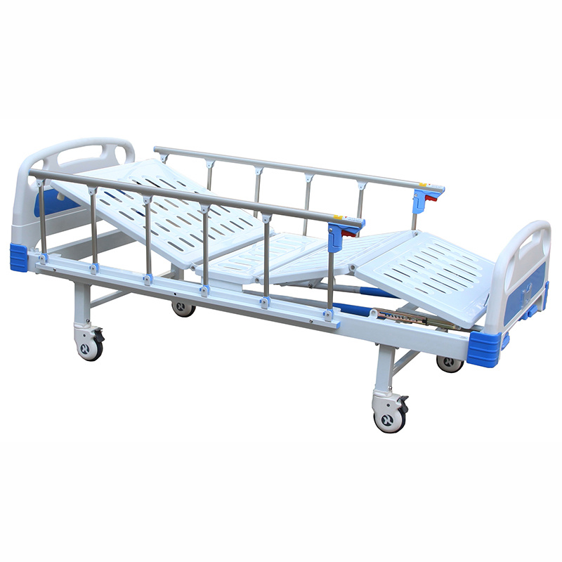 China Sk031 Stainless Steel Two Cranks Manual Hospital Bed Manual Guide