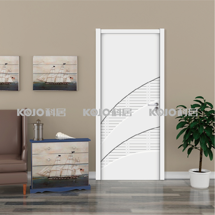 Moistureproof Extruded WPC Swing Door with Simple Design (YM-022)