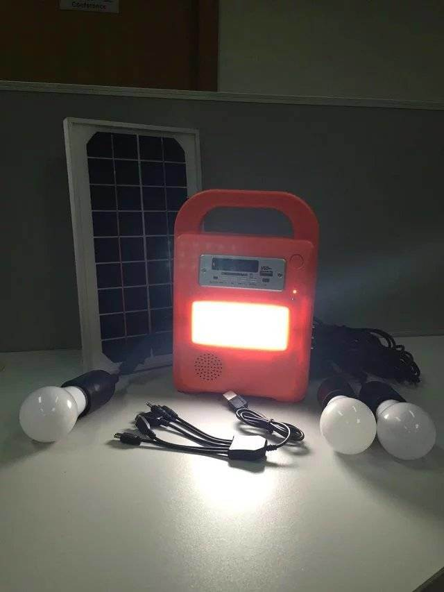 Solar LED Home Power System with FM Radio and SD Card Player