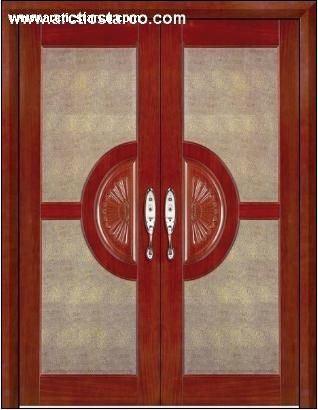 China French Door Glass Doorwooden Glass Door Interior Door