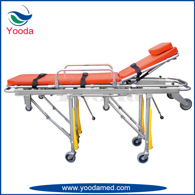 Full Auto Loading Aluminum Alloy Ambulance Stretcher