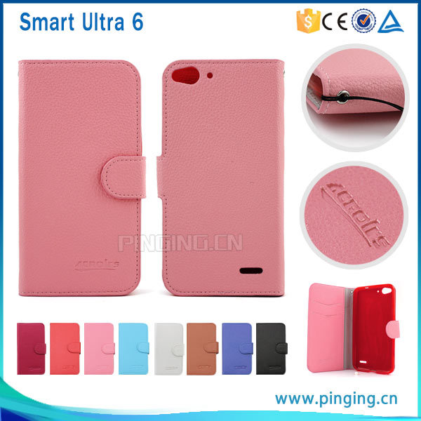 san francisco 8b8a9 3049a [Hot Item] Litchi Pattern Leather Flip Cover Case for Vodafone Smart Ultra  6 Vf995n