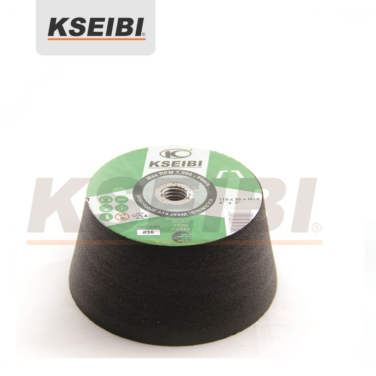 Best Result Kseibi Silicone Carbide/Aluminium Oxide Grinding Cup Wheel