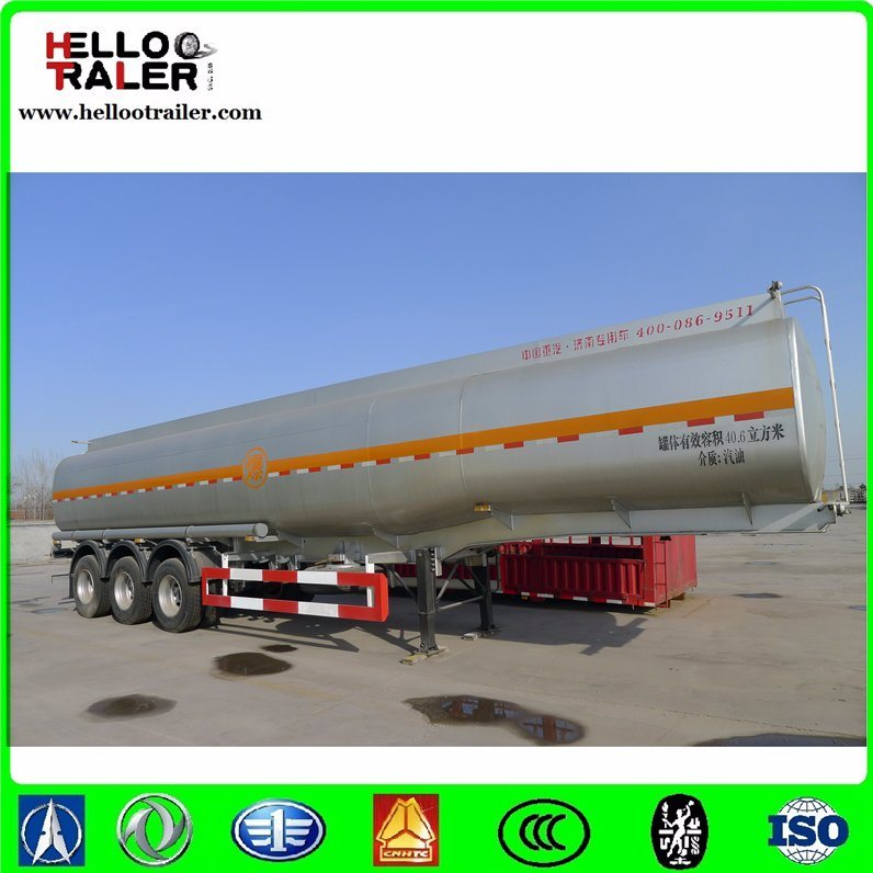 Stainless Steel Tri-Axle Oil Tanker Truck Trailer pictures & photos