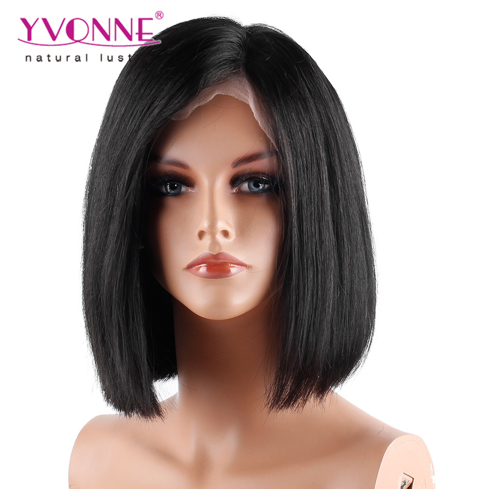 China Top Selling Yvonne Short Lace Front Human Hair Bob Wigs Brazilian Virgin Hair 180 Density China Bob Wig And Lace Wig Price