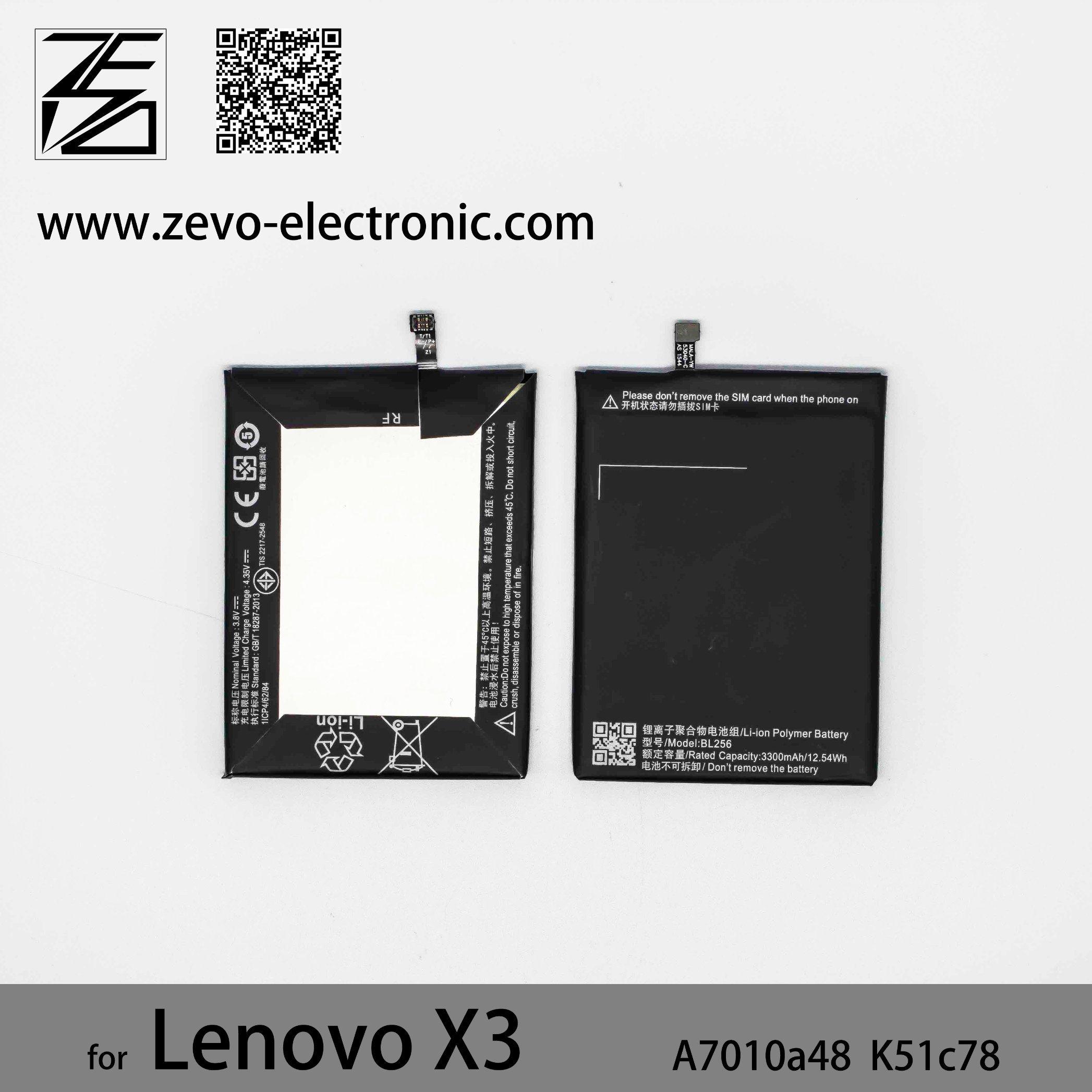 [Hot Item] High Capacity 3300mAh Mobiel Phone Battery Bl256 for Lenovo X3  Lite A7010A48 K51c78