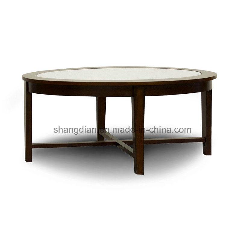 Hotel Public Area Furniture Cheap Unique Wooden Modern Round Coffee Side Table (KL C07) pictures & photos