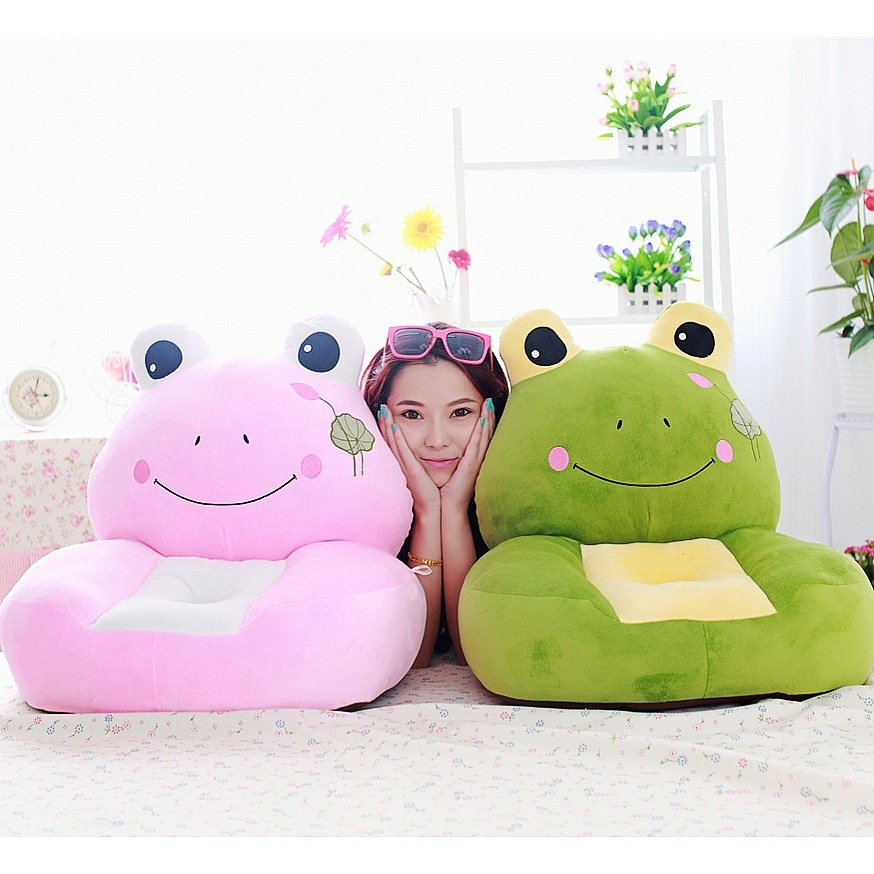 Baby Childs Frog Prince Princess Doll Seat Recliner Toddler Chair