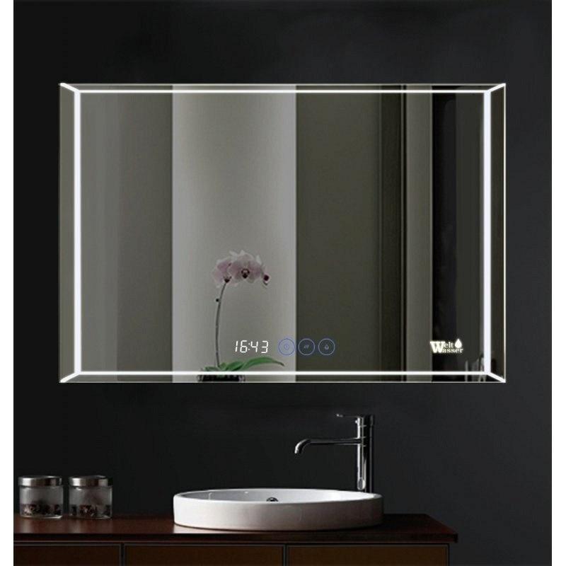 China Warm White Light Mirror Bathroom Led Mirrors With Beveled Edge China Led Mirror Led Backlit Mirror